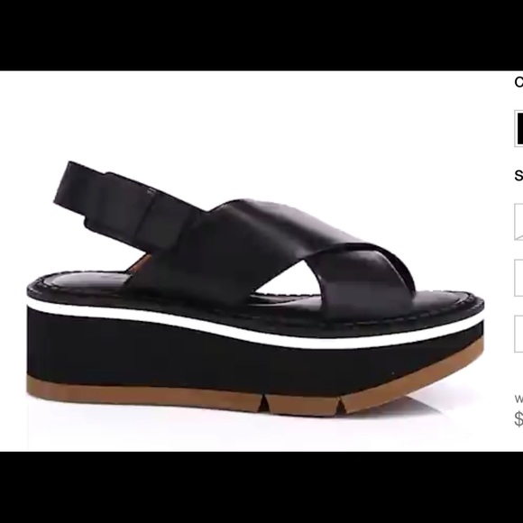 Robert Clergerie Shoes - Robert Clergerie Leather Platform Sandals